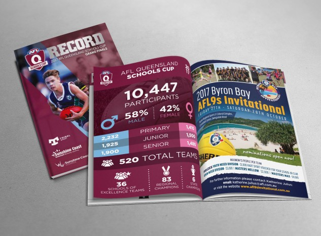 Program - all designed by me including internal ads and infographics