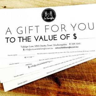 DL gift vouchers